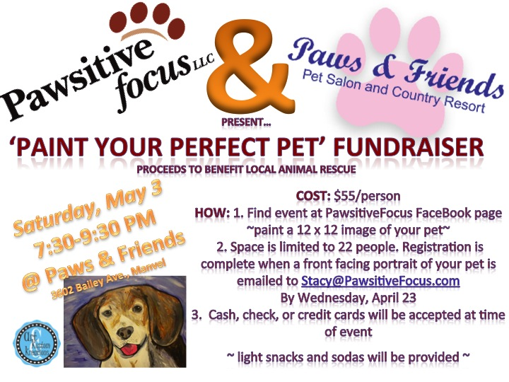 'Paint Your Perfect Pet' Fundrasier on May 3, 2014